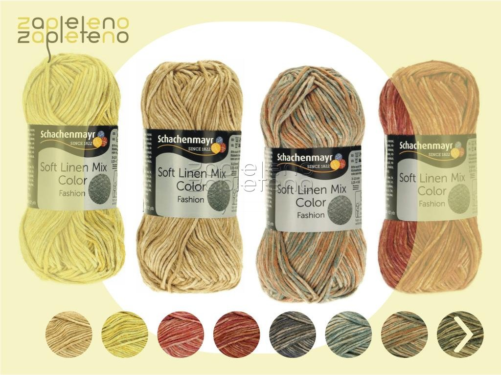 Soft Linen mix color Schachenmayr Zapleteno