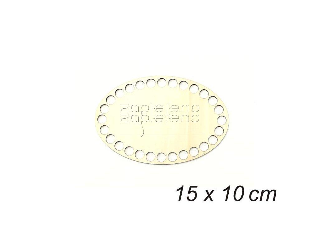 Dno oval 15x10cm