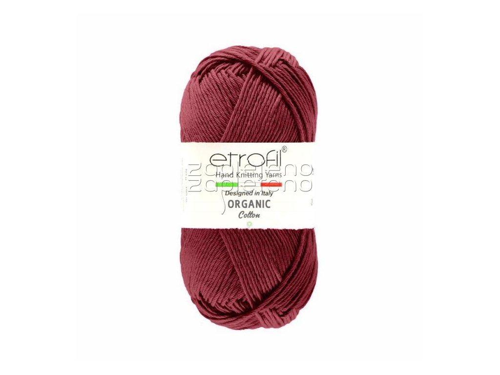 organic cotton EB040 burgundska cerven