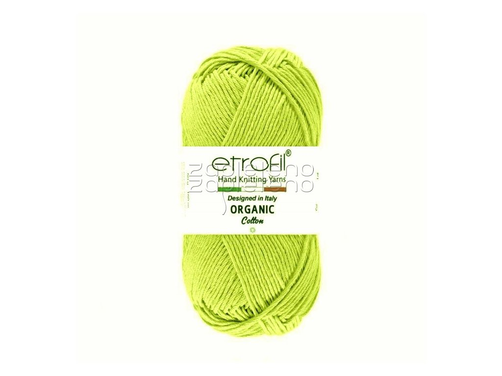 organic cotton EB049 zlutozelena