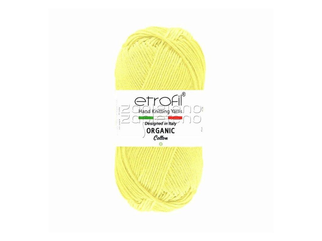 organic cotton EB058 svetle zluta