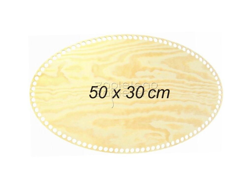 Dno oval 50x30cm