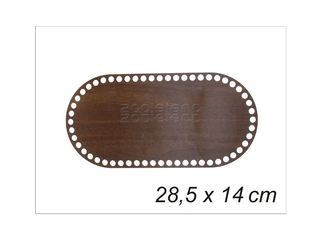 Dno ovalne 28,5x14 cm WENGE