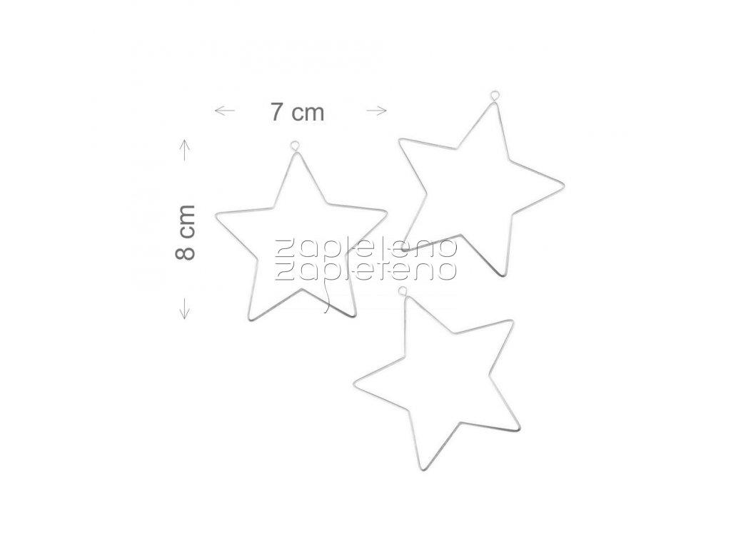 Hvezda mala 3ks 7x8cm