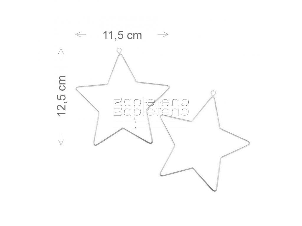 Hvezda velka 2ks 11,5x12,5cm