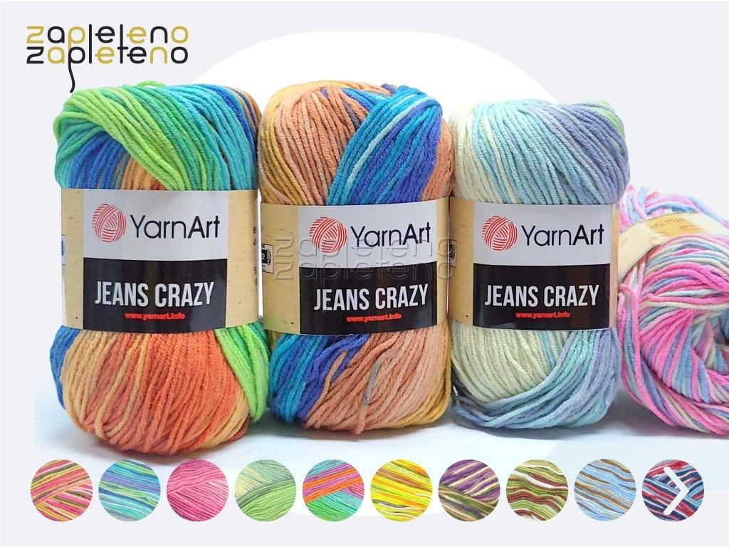 Jeans Crazy YarnArt Zapleteno