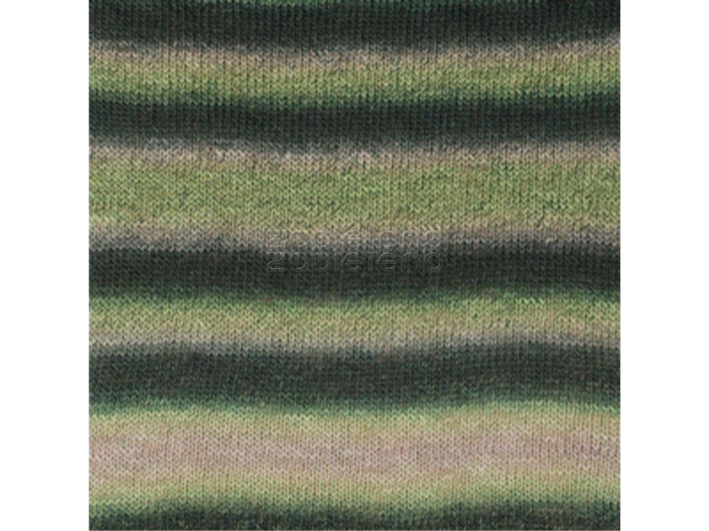 8 zelená béžová print