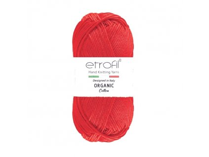 organic cotton EB005 cervena