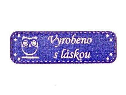 sova s laskou modra