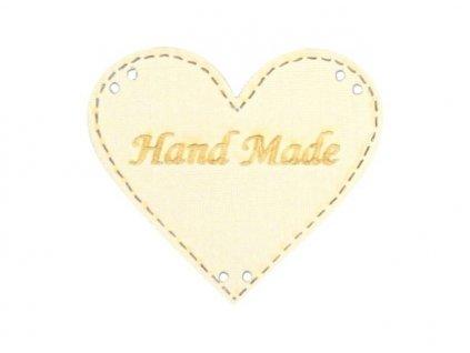 srdce Hand made smetanova
