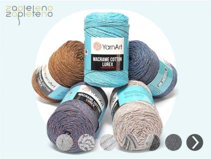 Macrame Cotton Lurex Zapleteno