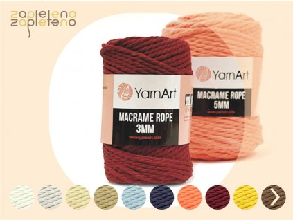 Macrame Rope 3mm YarnArt Zapleteno
