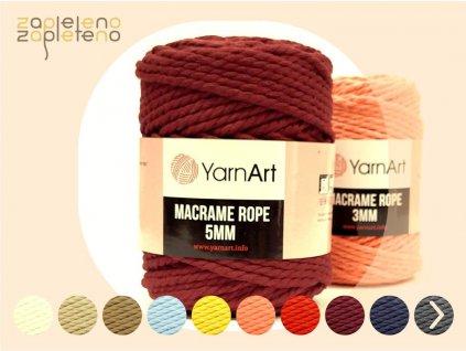Macrame Rope 5mm YarnArt Zapleteno