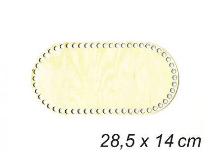 Dno ovalne 28,5x14 cm