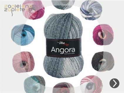 Angora luxus simli batik Vlna Hep Zapleteno