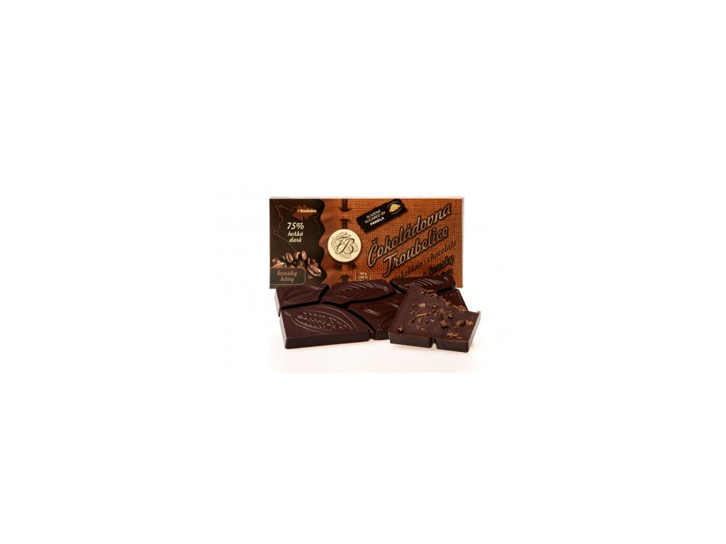 503 1 cokolada horka 75 s kavovymi zrny 45 g cokoladovna troubelice