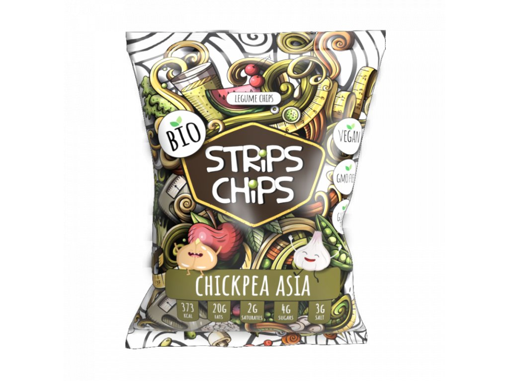 strips chips cizrna s cesnekem 90g 1594