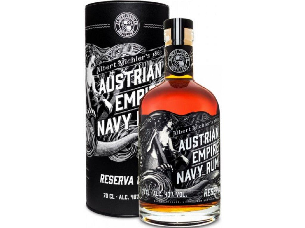 Austrian Empire Navy Rum Reserva 1863 tuba 40% 0,7l