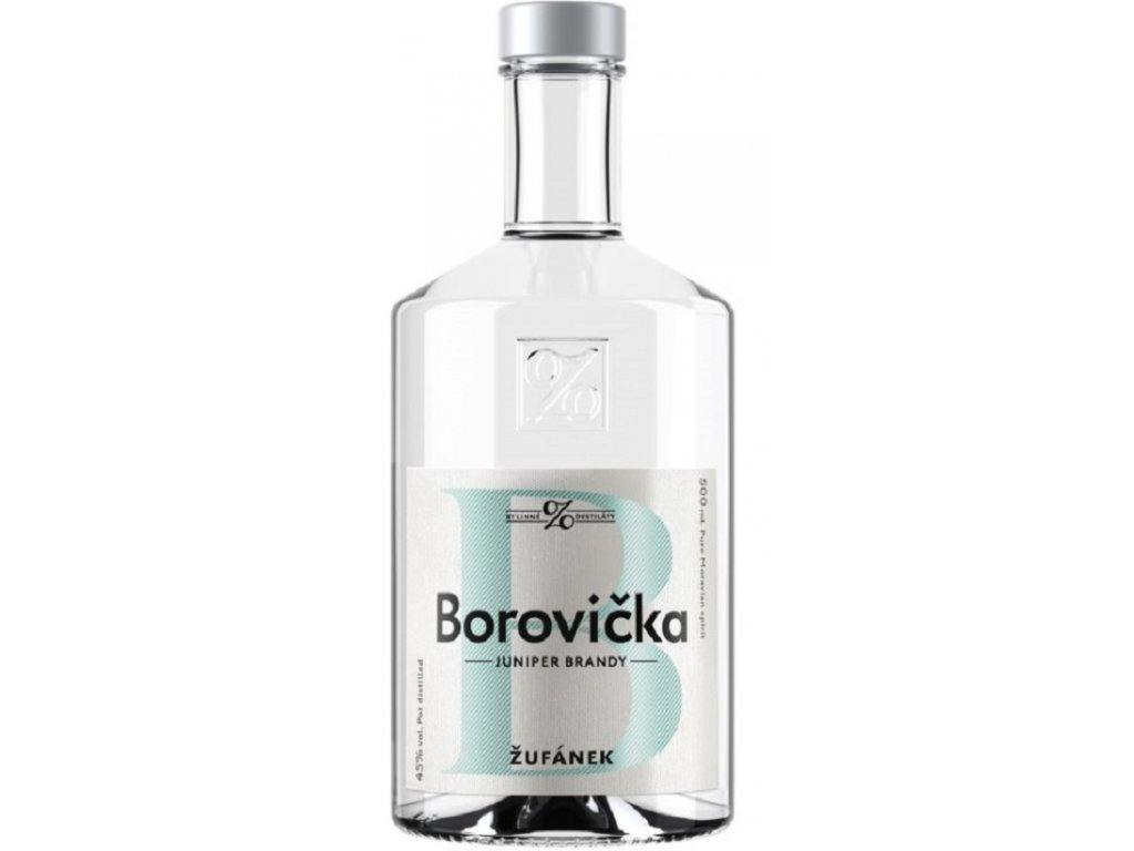Borovička Žufánek 45% 0,5l