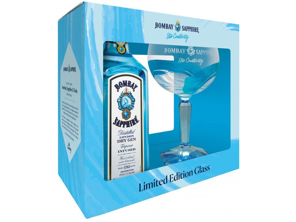 Bombay Sapphire + Balloon Glass 40% 0,7l