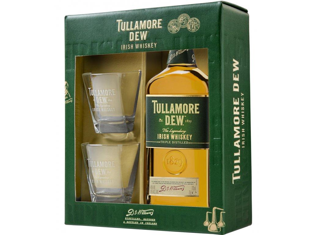 Tullamore D.E.W. + 2 skla 40% 0,7l