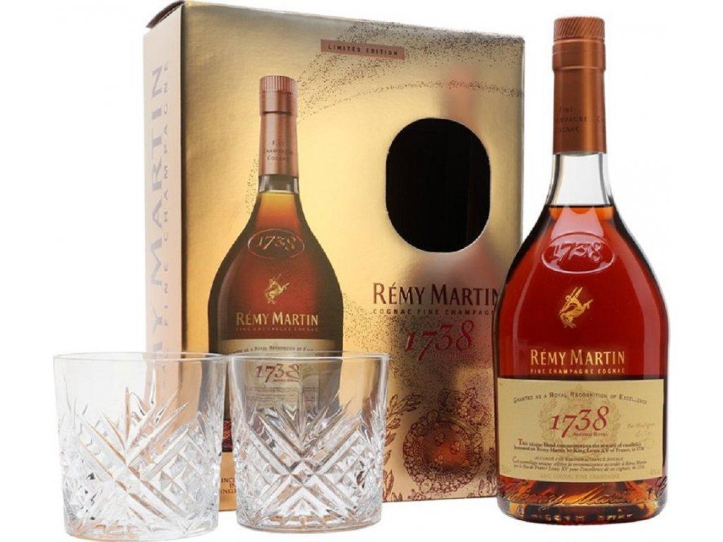 Remy Martin 1738 Accord Royal + 2 skla 40% 0,7l