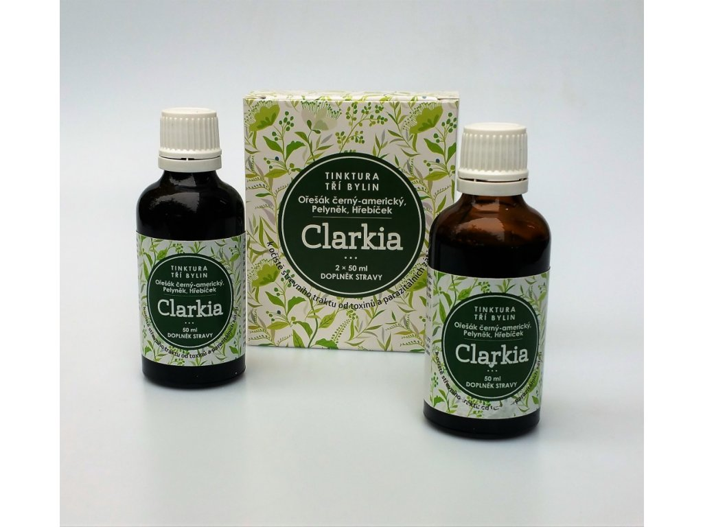 Clarkia - tinktura tří bylin