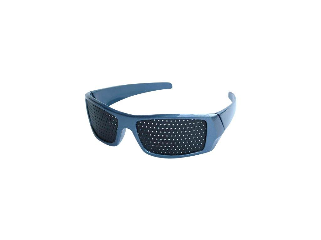 Děrované brýle modré - Elegant