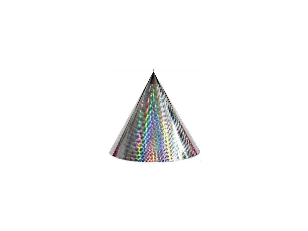 Kuželová pyramida (45 cm) - stříbrná čtverečky