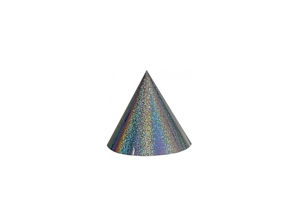 Kuželová pyramida velká (60 cm) - stříbrná tečky