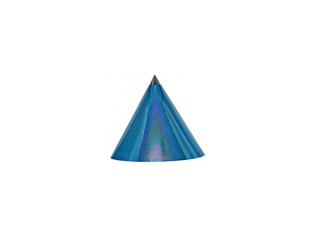 Kuželová pyramida velká (70 cm) - světle modrá tečky