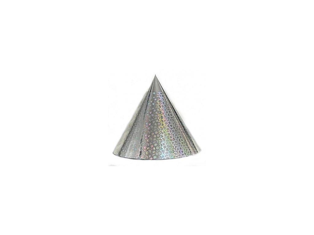 Kuželová pyramida (22 cm) - stříbrná kroužky