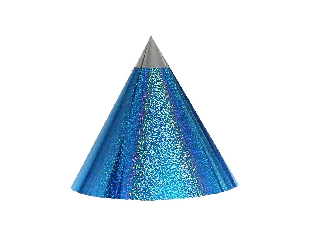 Kuželová pyramida (22 cm) - azurová tečky