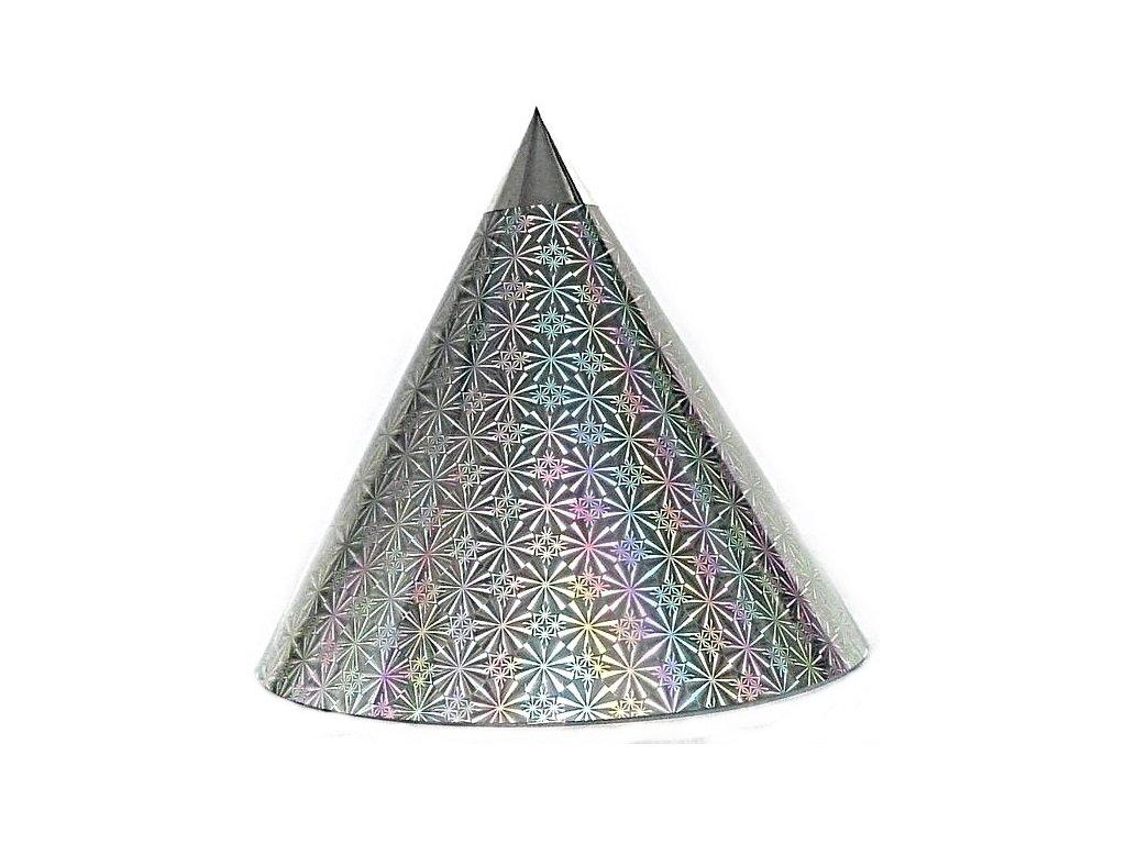 Kuželová pyramida (30 cm) - stříbrná kolečka