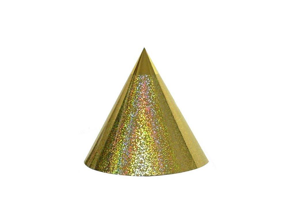 Kuželová pyramida (30 cm) - zlaté tečky