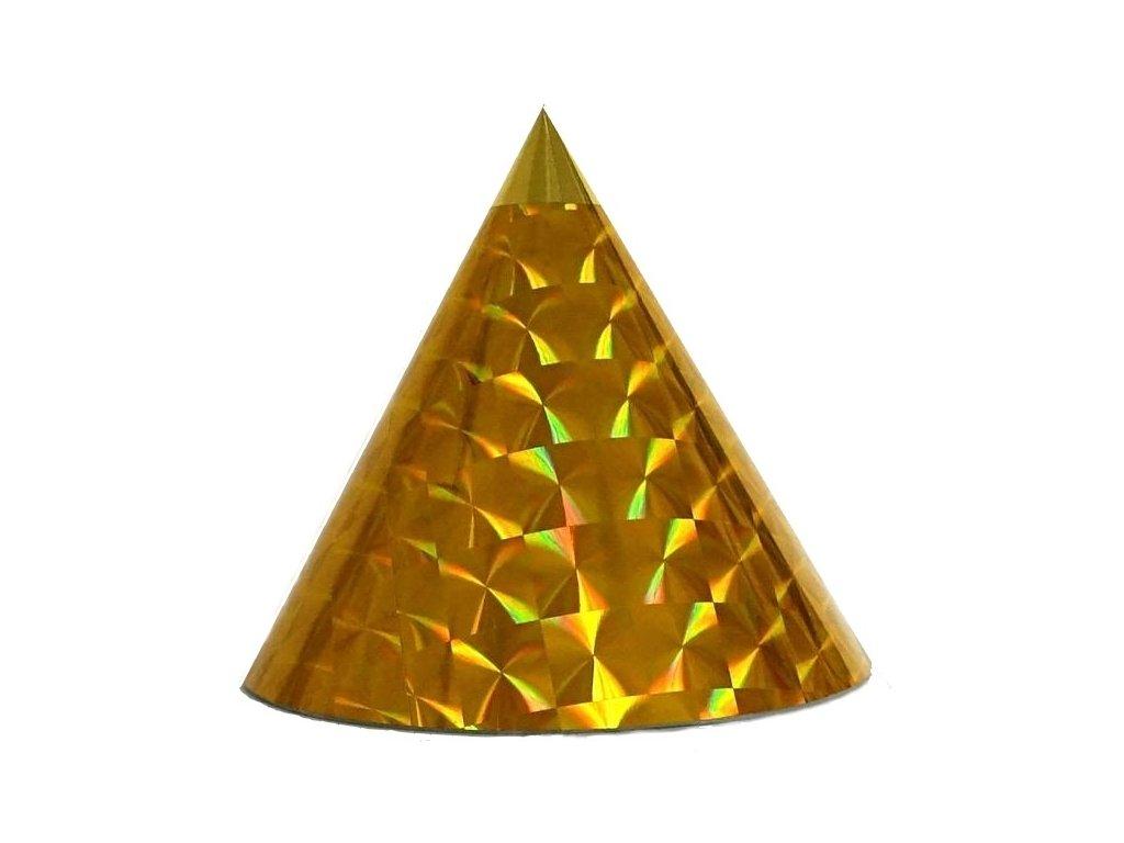 Kuželová pyramida (30 cm) - zlaté čtverce