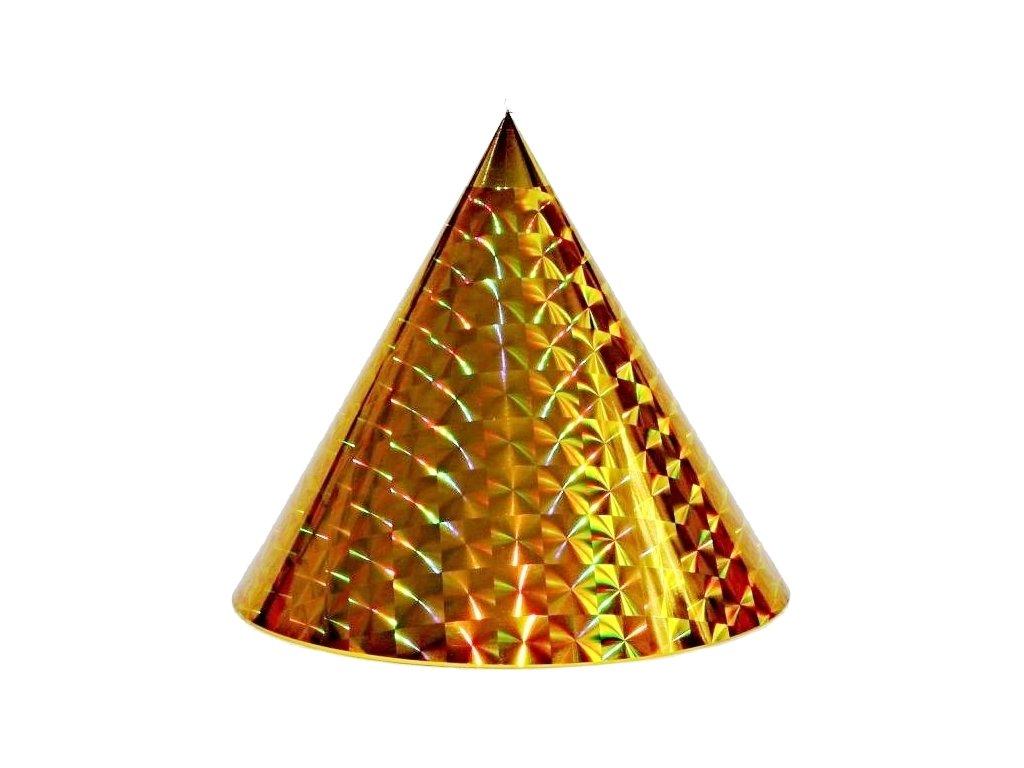 Kuželová pyramida (45 cm) - zlatá čtverce