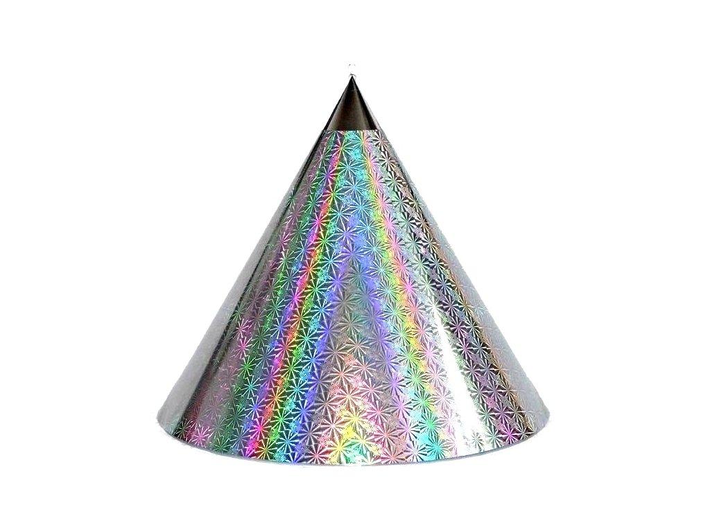 Kuželová pyramida (45 cm) -stříbrná kolečka