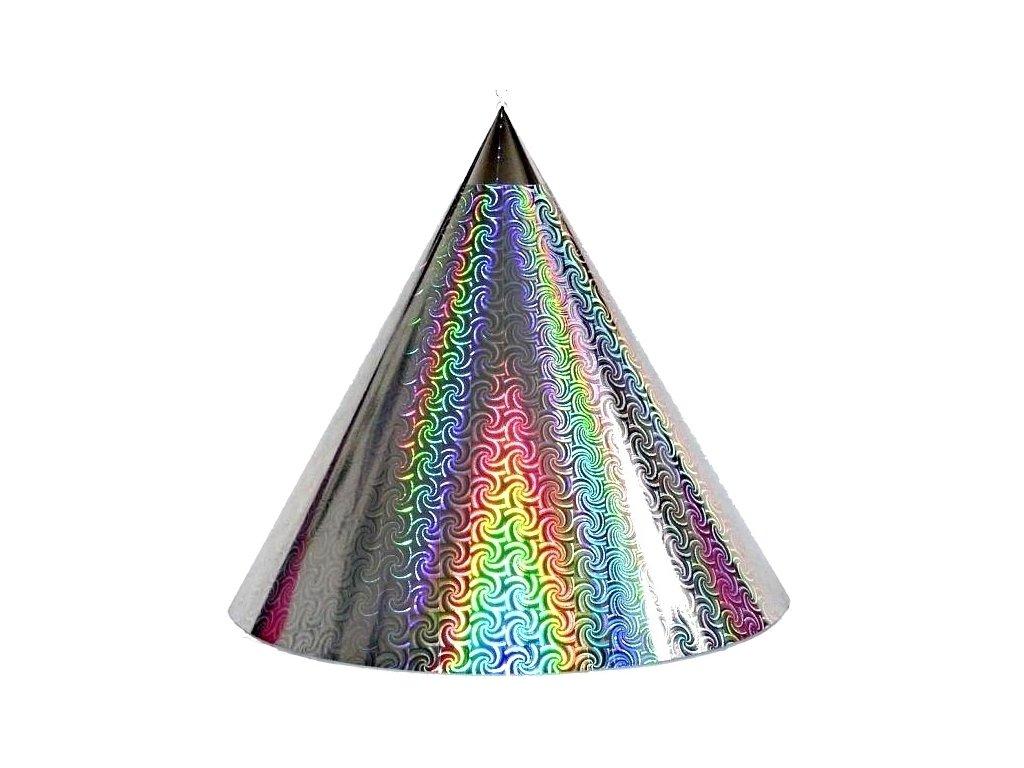 Kuželová pyramida (45 cm) - stříbrná větrník