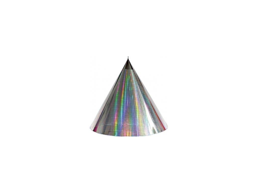 Kuželová pyramida (50 cm) - stříbrná-čtverečky