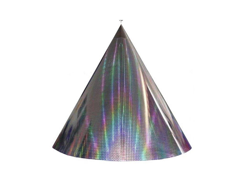 Kuželová pyramida velká (70 cm) - stříbrná čtverečky