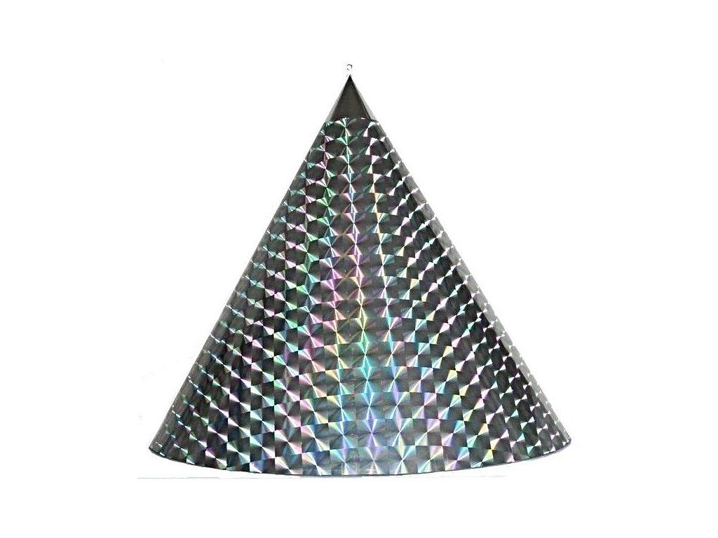 Kuželová pyramida velká (70 cm) - stříbrná čtverce