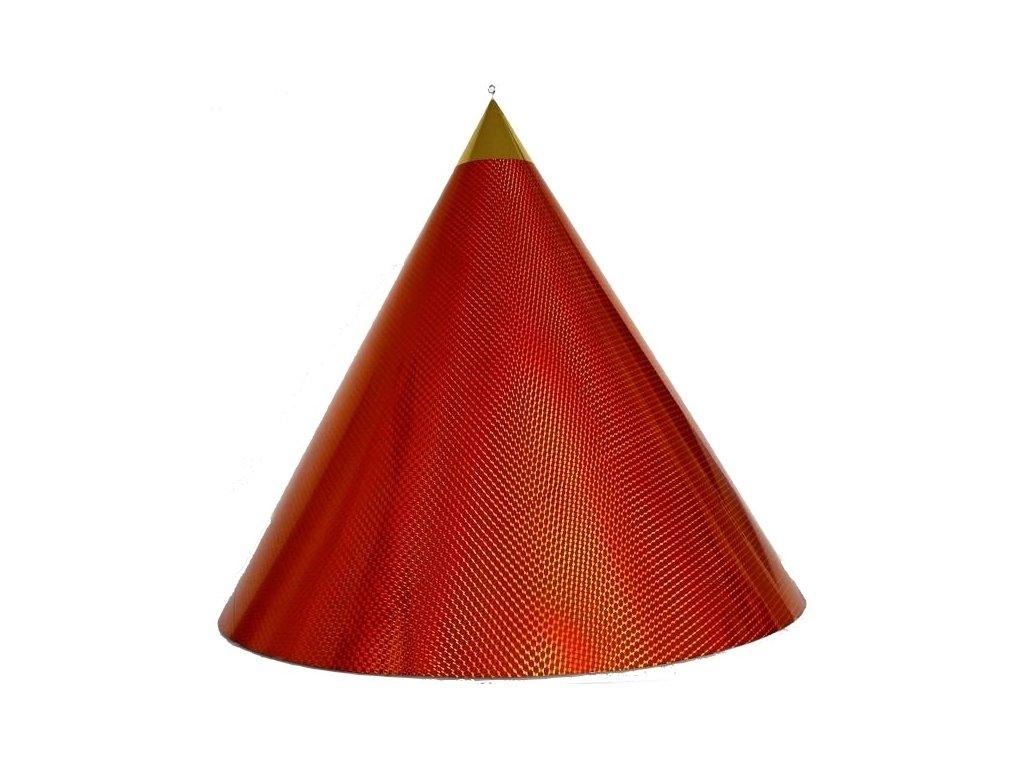 Kuželová pyramida velká (70 cm) - oranžová čtverečky