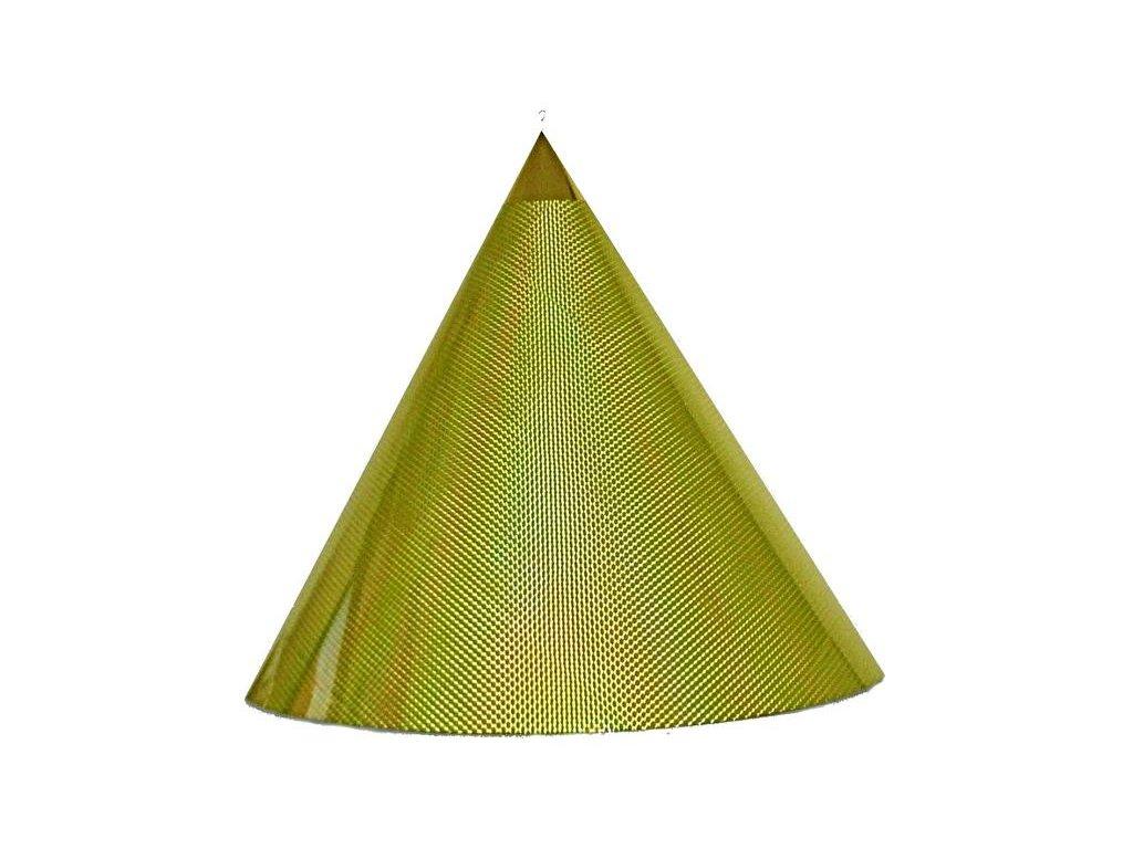 Kuželová pyramida velká (70 cm) - žlutě fosforová čtverečky
