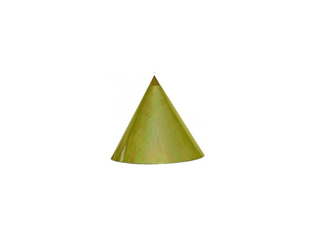 Kuželová pyramida (60 cm) - žlutěfosforová čtverečky