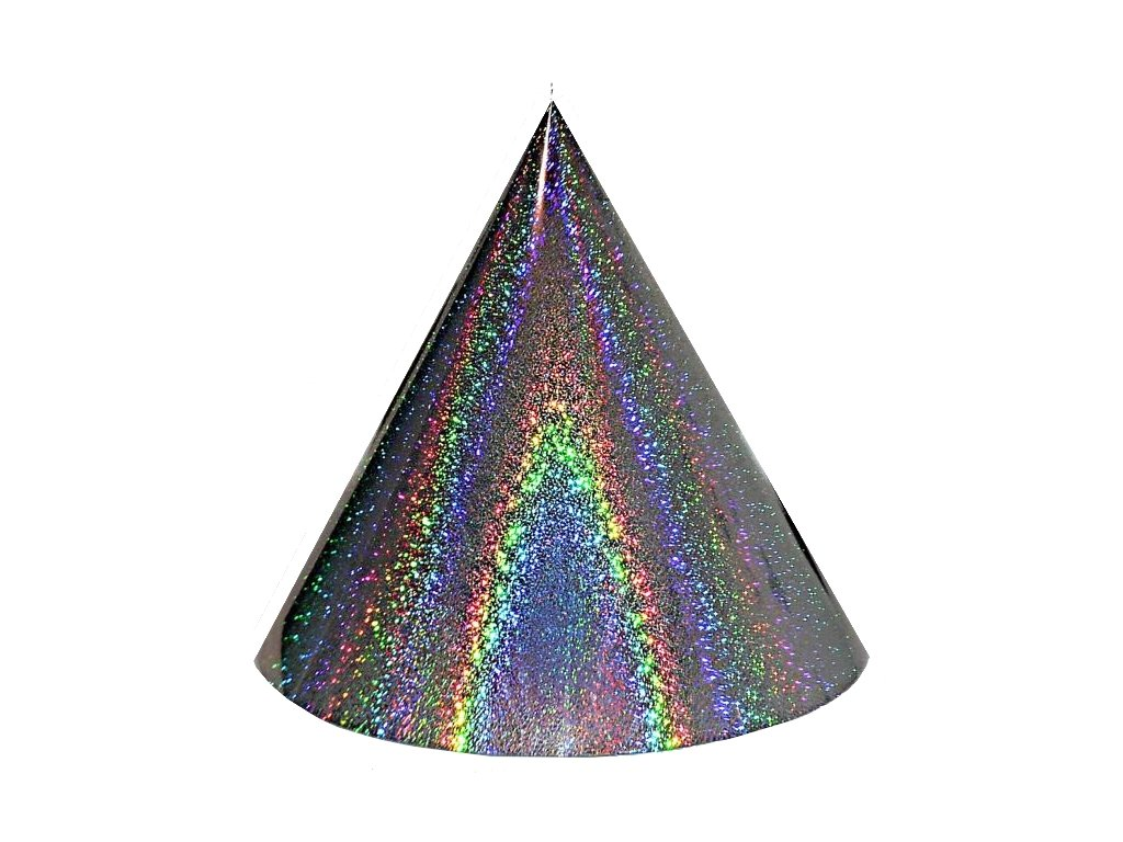 Kuželová pyramida (60 cm) - stříbrná extra tečky