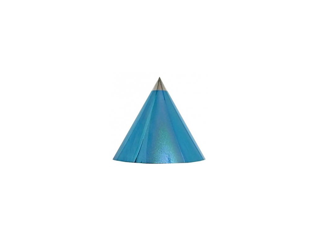 Kuželová pyramida (16 cm) - světle modrá tečky
