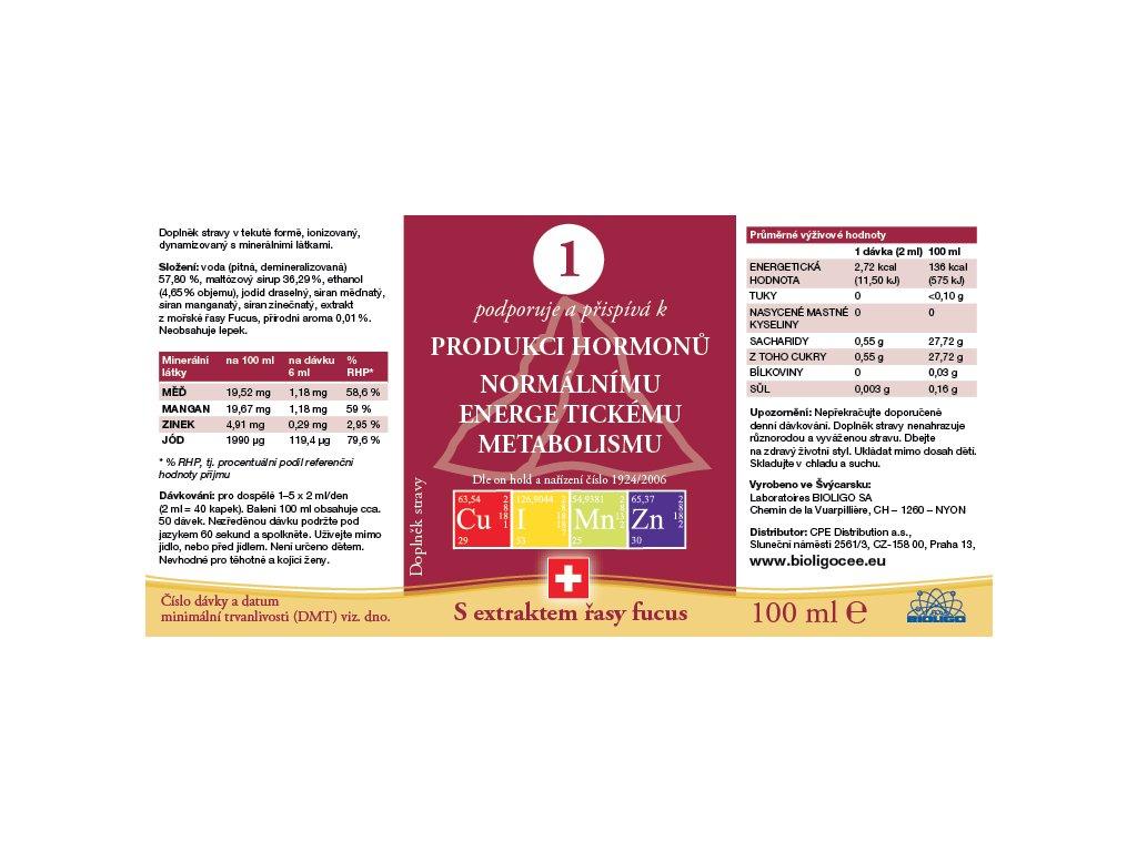 1 ROZTOK BIOLIGO - Produkce hormonů