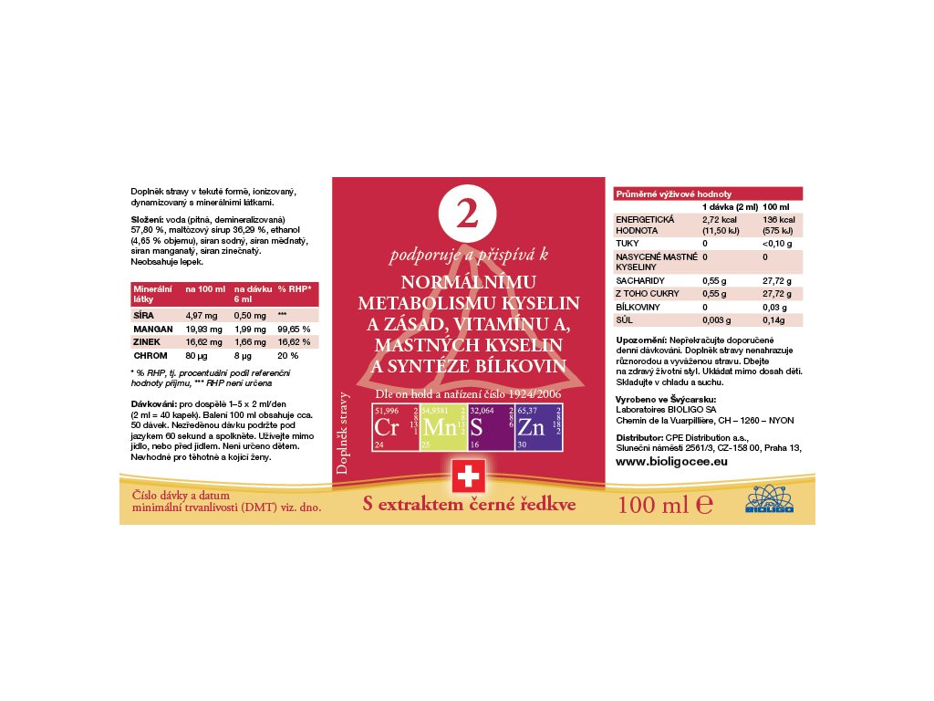 2 ROZTOK BIOLIGO - Metabolismus kyselin