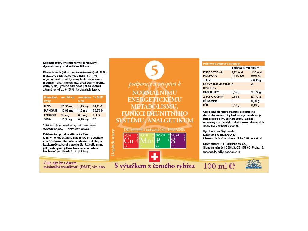 5 ROZTOK BIOLIGO - Imunita, analgetikum